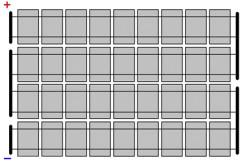 Типичная схема соединения ячеек солнечной батареи