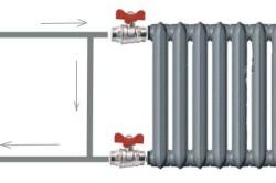 Схема подключения радиатора отопления с двумя кранами