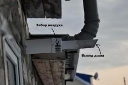 Выхлоп газового котла