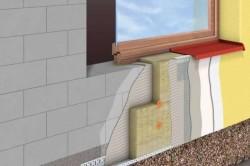 Утепление минеральной ватой дома из газобетона