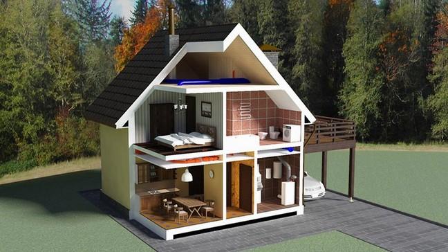 Воздушное отопление загородного дома своими руками.