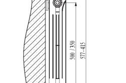 Чертеж алюминиевого радиатора