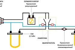 Электрическая схема водонагревателя.