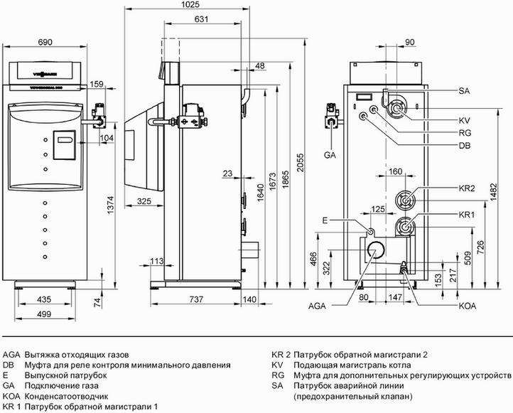 Схема конденсационного газового водогрейного котла.