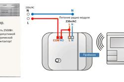 Схема подключения беспроводного термостата к тепловому электрическому конвектору