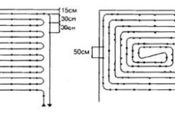 Схема укладки и крепления труб
