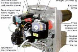 Схема жидкотопливной горелки