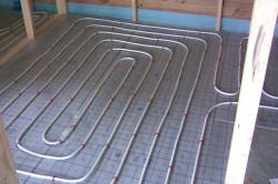 Схема кабельного электрического теплого пола в разрезе.