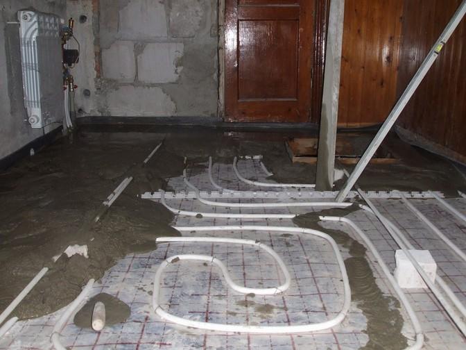 Теплый пол своими руками водяной в квартире видео