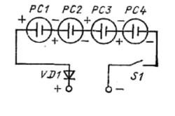 Рис. 3. Электрическая схема спайки солнечной батареи