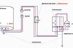 Электросхема подключения бойлера.