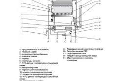 Схема газового настенного котла.