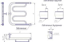 Схема комбинированных полотенцесушителей
