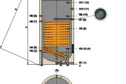 Схема бойлера косвенного нагрева.