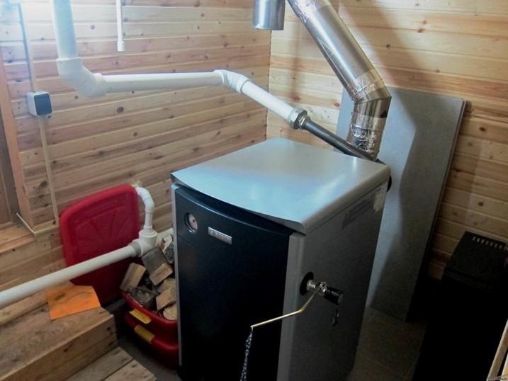 Паровое отопление от печи с помощью твердого топлива
