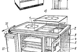 Кухонная плита из кирпича