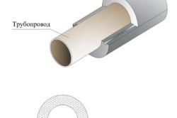 Способ соединения трубы со скорлупой из пенополистерола