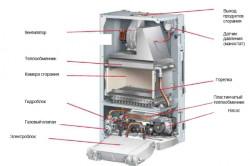 Схема устройства двухконтурного газового котла