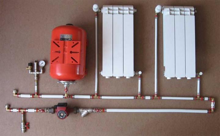 Система водяного отопления в доме