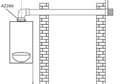 Схема горизонтального дымохода для турбированной газовой колонки.