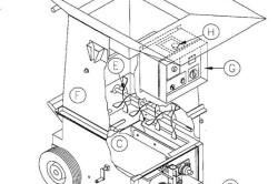 Схема выдувной машины для эковаты